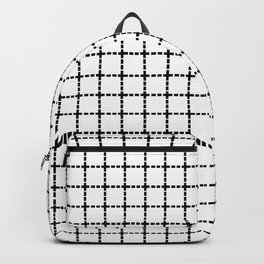 Dotted Grid Black on White Boarder Backpack