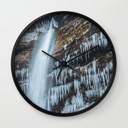 Waterfall Peričnik in Mojstrana, Slovenia Wall Clock