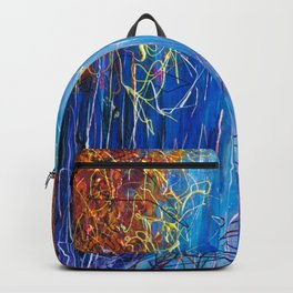 Impressionist Autumn -  ( inspired by Pollock ) Backpack