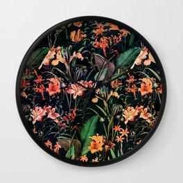 Exotic Garden Wall Clock