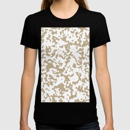 Spots - White and Khaki Brown T-shirt