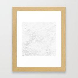 White Marble Silver Glitter Gray Framed Art Print