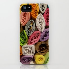 Colorful Quilled Paper Art by Daniel MacGregor iPhone Case