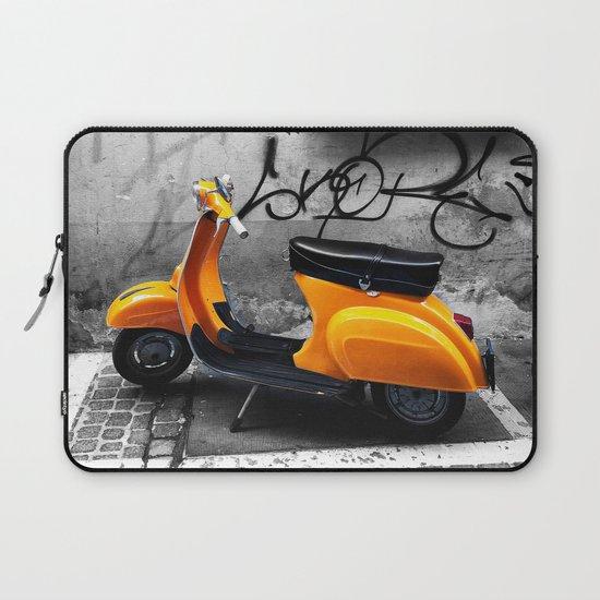 Orange Vespa in Bologna Black and White Photography by emmanuelsignorino