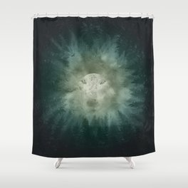 forest wolf Shower Curtain
