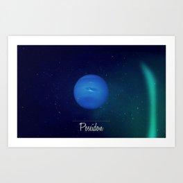 Cosmos Poseidon / Neptune Art Print