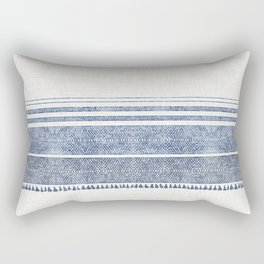 FRENCH LINEN CHAMBRAY TASSEL Rectangular Pillow