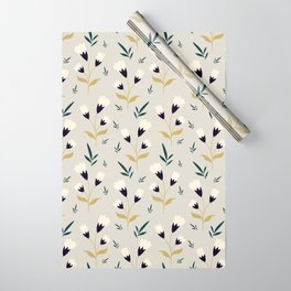 Little white flower pattern on cream background Wrapping Paper