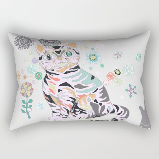 catflowers Rectangular Pillow