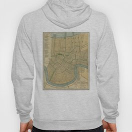 Vintage Map of New Orleans Louisiana (1893) Hoody