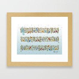 Singing Doodle Birds Framed Art Print