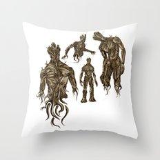 I AM [badass] GROOT Throw Pillow