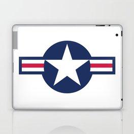 US Airforce style roundel star - High Quality image Laptop & iPad Skin
