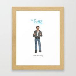 The Fonz Framed Art Print