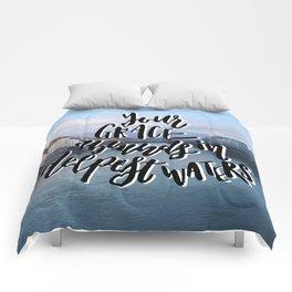 Grace in Deep Waters Comforters