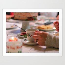 Candy Cane Cake & Tea Art Print