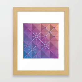 Pink Lattice Framed Art Print