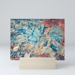 Layered Rustic Rock Mini Art Print
