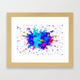 Leaves blobs Framed Art Print