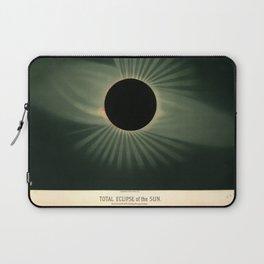 Total solar eclipse by Étienne Léopold Trouvelot (1878) Laptop Sleeve