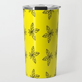 Nature Abstract Yellow Pattern Travel Mug