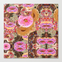 IRON&EMOTION I DONUT GIVE A DAMN ABOUT HAVING ABS Canvas Print