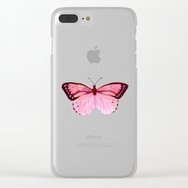Strawberry Fluff Clear iPhone Case