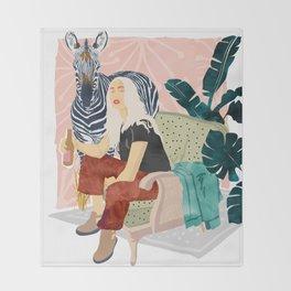 Zebra Hangout Throw Blanket