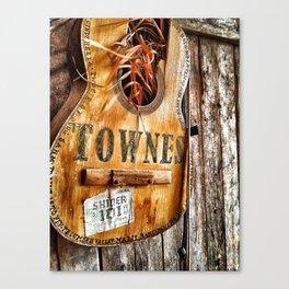 Townes Guitar Canvas Print