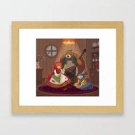 Balalaika Bunny Framed Art Print
