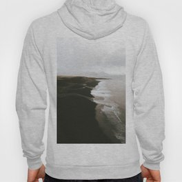 Moody black sand beach in Iceland - Landscape Photography Hoody