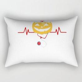 Pumpkin Nurse Halloween Gift Rectangular Pillow