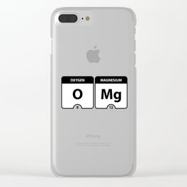 OMG Periodic Table Clear iPhone Case