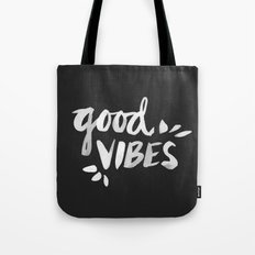 Good Vibes – White Ink Tote Bag