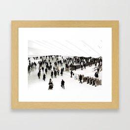 Walking. Framed Art Print