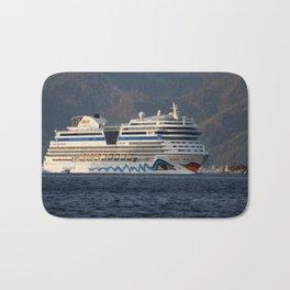 Aida Stella Cruise Ship Leaving Marmaris Bath Mat