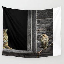 The Eyes are on the Sparrow Wall Tapestry