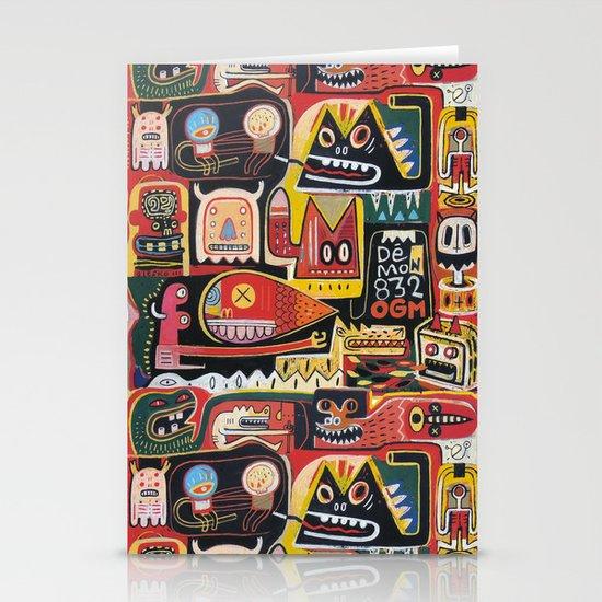 Mutant pop corn Stationery Cards