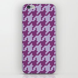 Houndstooth - Purple iPhone Skin