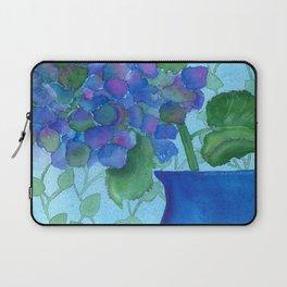 Cobalt Hydrangea Laptop Sleeve
