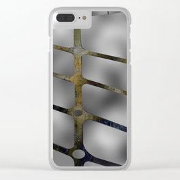 Rusted Iron With Stainless Steel Clear iPhone Case