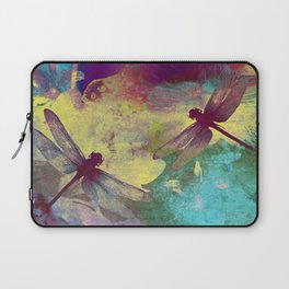 Painting Orchids and Dragonflies Laptop Sleeve