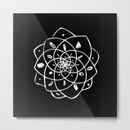 Energy Grid - Black Lotus Metal Print