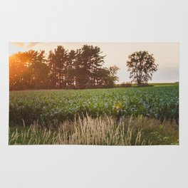 Sunsets and Corn Fields Rug