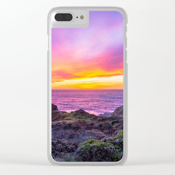 California Dreaming - Brilliant Sunset in Big Sur Clear iPhone Case