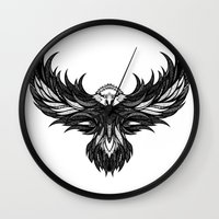 eagle Wall Clocks featuring Eagle by Andreas Preis