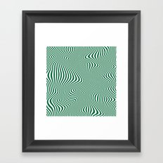 DISTORTION GREEN Framed Art Print