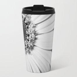 Black and white sunflower Travel Mug