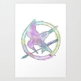 Mockingjay Watercolors Art Print