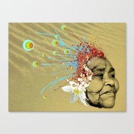 """Gabriela"" of the Kaweskar People - Color Canvas Print"